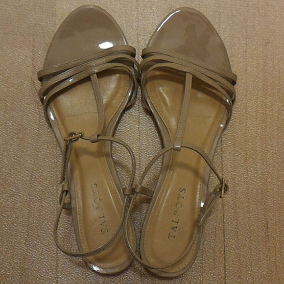 5a3ab9ed18bf6 Talbots Shoes - Talbots Colette Faux Patent Leather T-Strap wedges