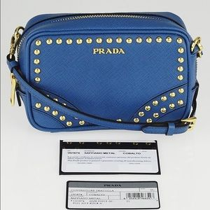 Prada Handbags - HP 5/2 Prada Studded Saffiano Mini Lux