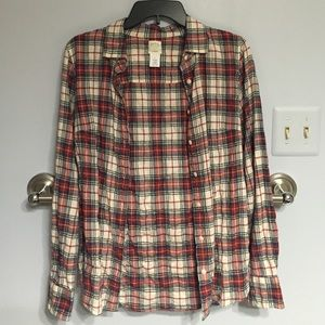 J crew plaid perfect shirt