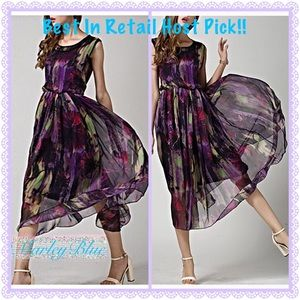 Host Pick!!! Colorful Long Chiffon Dress