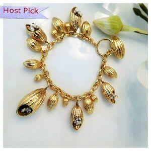 Anitanja Jewelry - Cocoa Charm Bracelet w/Pearls
