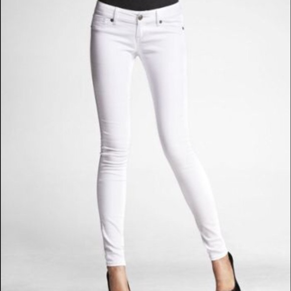 76% off Express Denim - Express white skinny jeans! from Melissa's ...