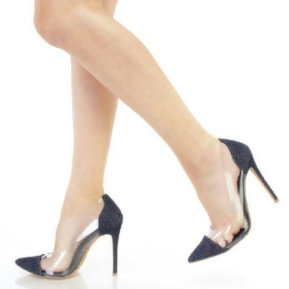 ccafeb46d0f High Heel Denim Stiletto Heels