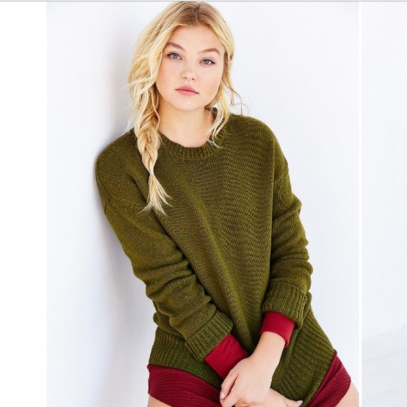 49% off Urban Outfitters Sweaters - BDG boyfriend sweater olive ...