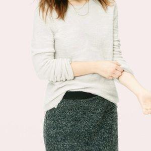 NWT Lou & Grey split stripe popover sweater XS