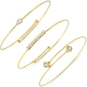 Vince Camuto Jewelry - ✨Vince Camuto Gold Crystal Accented Set Of 3✨