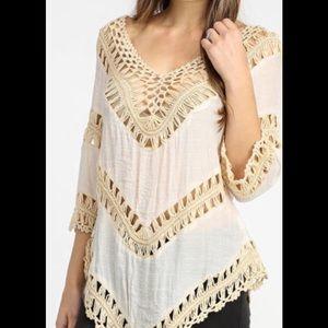 NWT White Crochet Top!