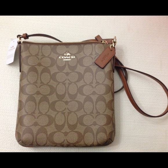 46% off Coach Handbags - Sale! Coach signature Khaki/ Saddle ...