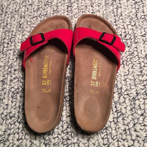 9081d57d394f Birkenstock Shoes - Red patent leather original Birkenstock sandals