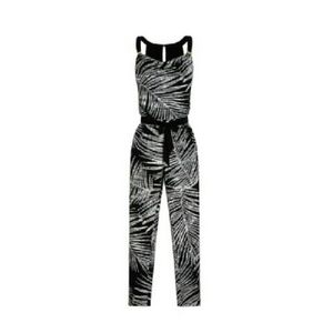 White House Black Market Pants - Sleeveless shaded palm print jumpsuit