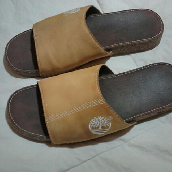 c36e85a75cce Mens Timberland tan suade slide sandals. M 56eb68e4981829ec13007940