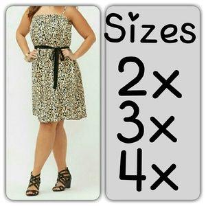Lane Bryant Dresses & Skirts - SALE! New plus size dress leopard print 3x 2x 4x