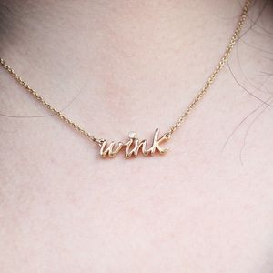 Kate Spade Say Yes Wink Gold Necklace