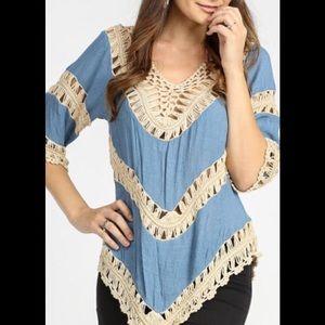 Blue Crochet Top!