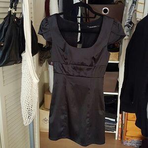 Black Halo Dresses & Skirts - Black Halo Satin Black Mini Dress