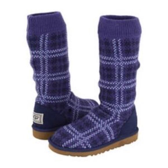 ugg purple knit boots