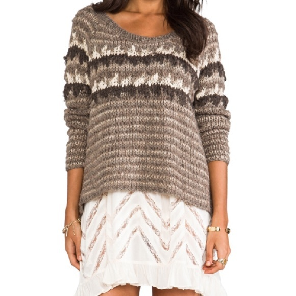 52% off Free People Sweaters - Free People Fuzzy Fair Isle Sweater ...
