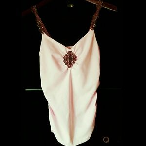 Cache  Tops - Cache light pink embellished top