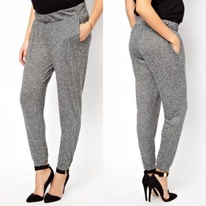 Textured Grey Maternity Peg Pants