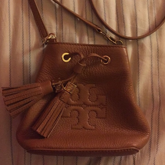 5861f050607d Tory Burch Mini Thea Cross Body Bucket Bag. M 56eb834b4e8d1708f600c1e0