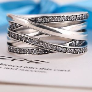 Pandora Jewelry - Pandora ENTWINED clear CZ ring pick ur size