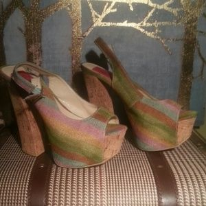 Cool  2 inches platform on the cork 5,5 heel