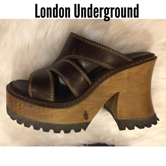 0405c7ab831d London Underground Shoes - 1990 s London Underground Platform Heels