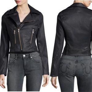 • True Religion • Black Moto Jacket