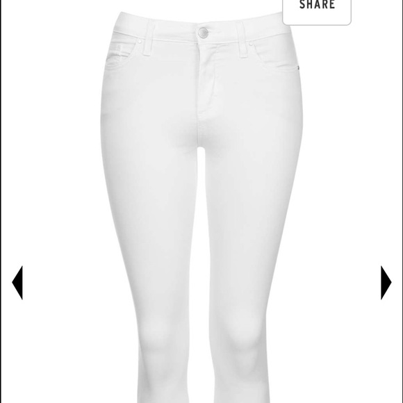 54% off Topshop Denim - Topshop skinny white stretchy jeans from ...