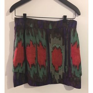 SUNO Dresses & Skirts - Ikat print mini skirt