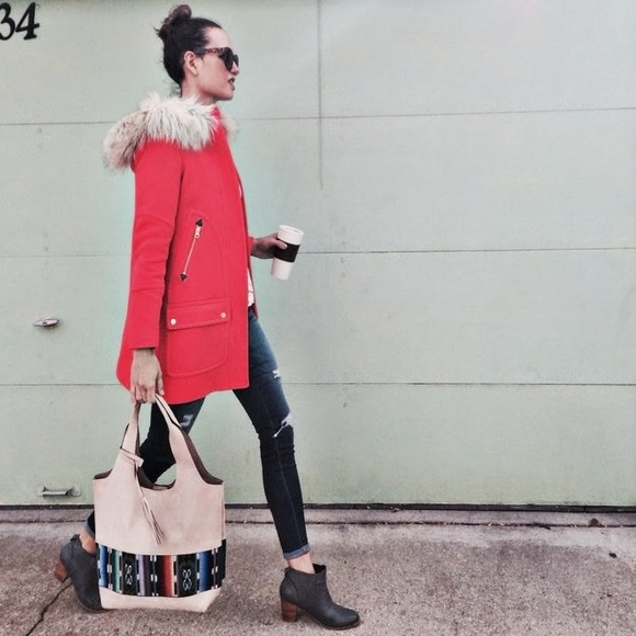 J. Crew - SOLD - J. Crew | Chateau Stadium Cloth Parka Red from ...