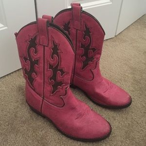 80 gap shoes pink and brown cowboy boots from