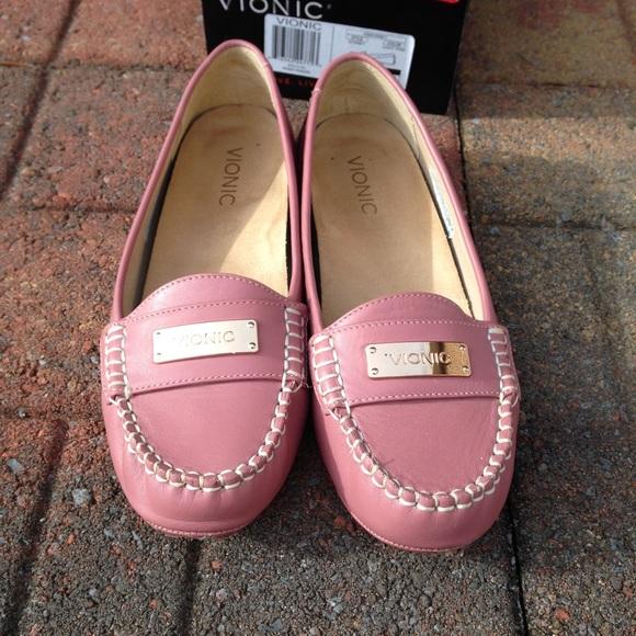 ed5c41486e0 Vionic Orthaheel woman s Sydney Light Pink Slip on