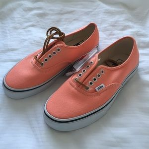 f518e8d9ea921d Vans Shoes - Brushed Twill Authentic Fresh Salmon Vans - 8.5