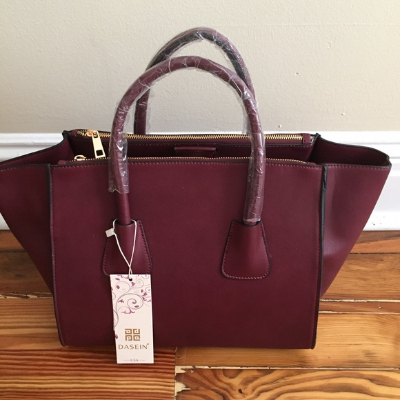 50% off Dasein Handbags - Dasein Burgundy / Wine Satchel / Purse ...