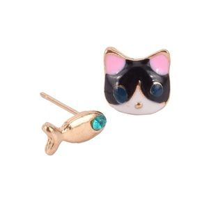 Jewelry - Cute cat and fish earrings