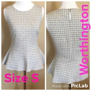 Worthington Women's Peplum Top Size S