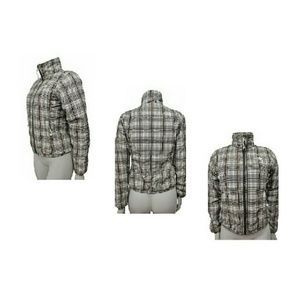 The North Face full zip plaid jacket Sz XS