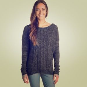 Roxy Cable Knit Sweater(Grey)