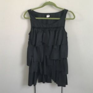 J. Crew silk ruffle tiered top
