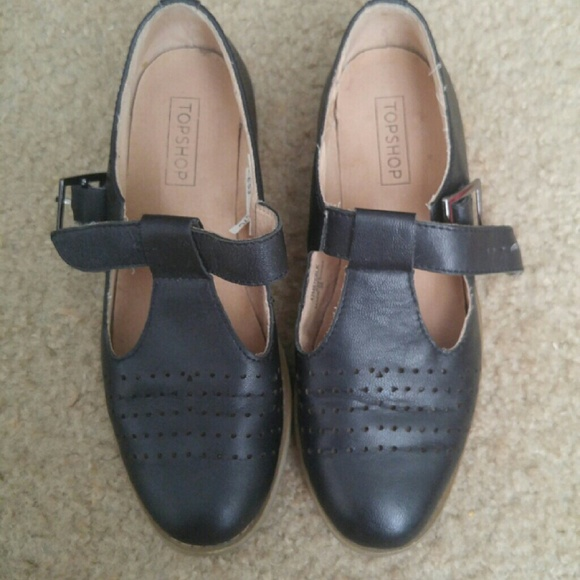 36 topshop shoes topshop black leather shoes from