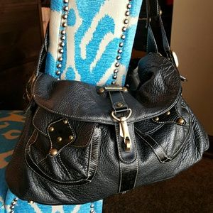 AqUA Madonna Handbags - Black Leather Handbag