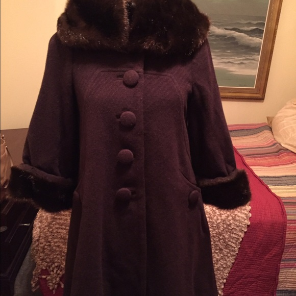 H&M - gorgeous chocolate brown wool swing coat! on sale! from ...