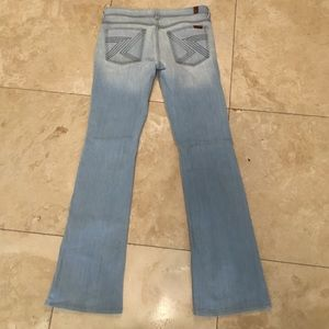 7 for all Mankind Denim - 7Fam 7 for all mankind light flare Flynt Jeans 27