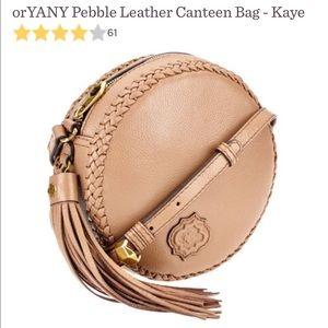 OrYANY Italian leather cross body bag.