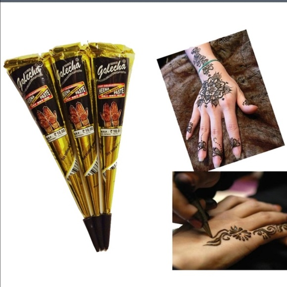 Henna Brands: BRAND NEW 3X Black National Indian Henna Tattoo OS From ⭐️