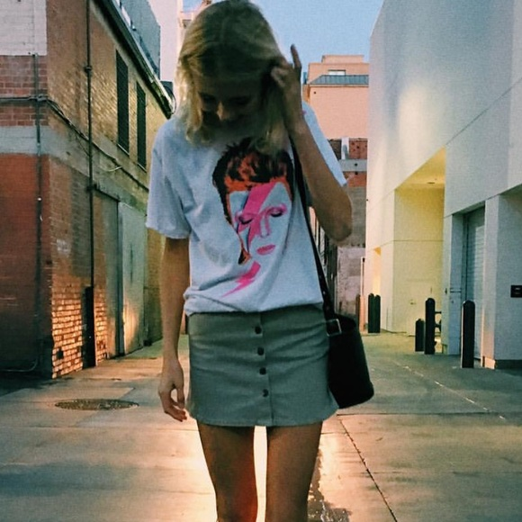 Brandy Melville Tops - Brandy Melville David Bowie vintage graphic top