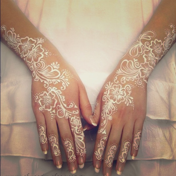 White Mehndi Tattoo : Sold out white national indian henna tattoo from ⭐️