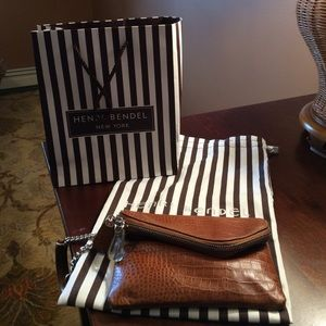Brand New Henri Bendel Brown Leather Wristlet