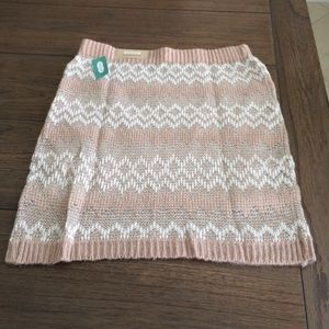 NWT Maurice's pink sweater skirt